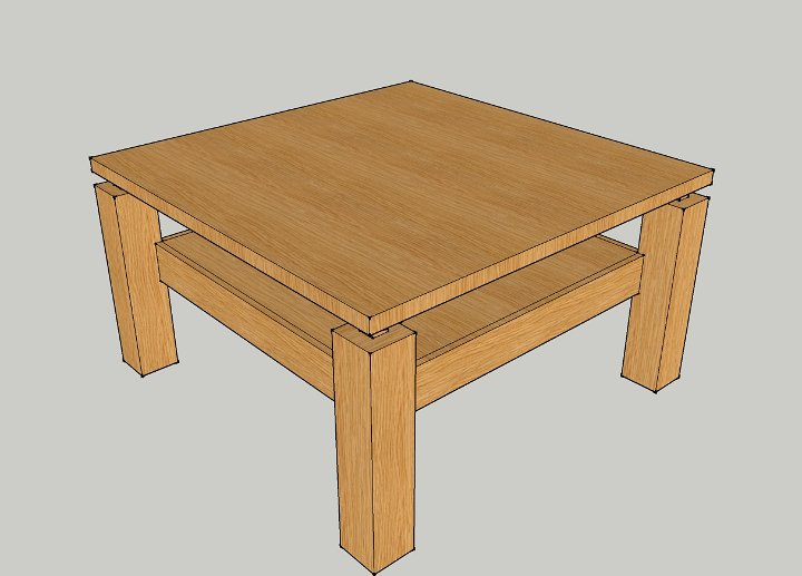 02 tafel met ladenblok tekening for Ladenblok maken